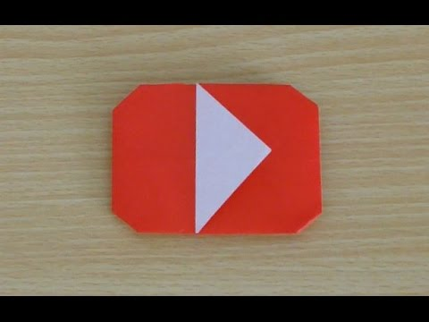 How To Make An Origami Youtube Logo