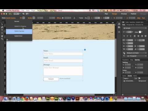 Adobe Muse CC 2014 Tutorial | Mastering Contact Forms
