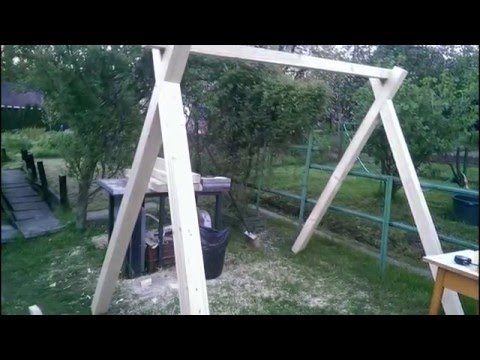How to make swing from wooden beams 2 - jak vyrobit houpacku z tramu