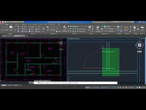 How to draw a floor plan in AutoCAD step by step (Part 7): Mirror, Door Block