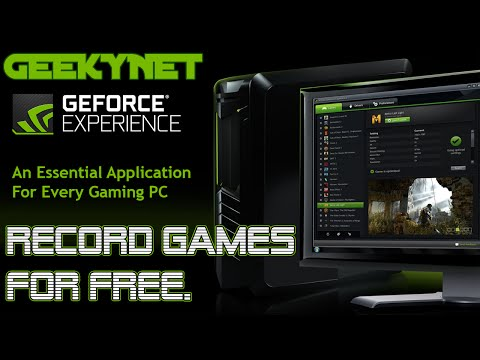 Record Gameplay for Free With ShadowPlay (GeForce Experience, Requires NVIDIA GPU)