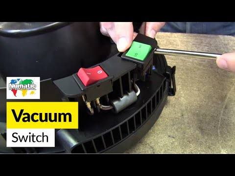 How to replace a switch on a Numatic (Henry) vacuum cleaner