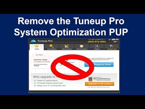 How to Remove the Tuneup Pro System Optimization PUP  ( Malware Removal Guide )