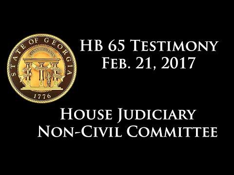 SB 105 to De-Felonize Marijuana Possession Final Judiciary Hearing, February 27, 2017