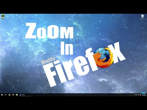 How to zoom in with Mozilla Firefox