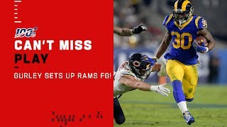 Todd Gurley Leads Rams into FG Range for 1st Score of the Game