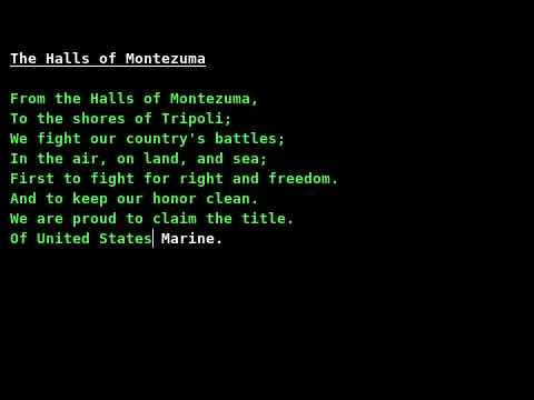 Marines' Hymn (The Halls of Montezuma) /w lyrics