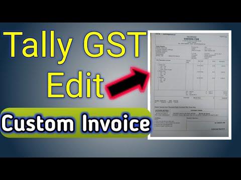 TALLY EDIT CUSTOM INVOICE TDL | HOW TO EDIT INVOICE IN TALLY | CUSTOM INVOICE TDL BY SKILL BILL