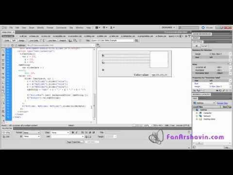 JQuery Tutorial - Make Simple RGB Color Slider Using JQuery UI.mp4