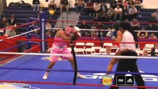 Rebeca Firebaugh (oxnard Pal) Vs Danyelle Wolf (old School)- Adidas National Boxing Tournament