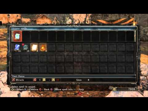 Dark Souls II - Majula: Herald Level Up Deprived Build To Use Great Soul Arrow (Faith / Attunement)