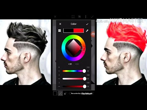 How to edit a picture and change the hair color