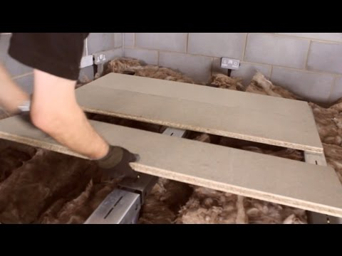 How to board a loft above the insulation