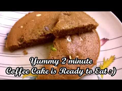 2-minute Delicious Eggless Coffee Walnut Cake | Microwave Cake | JR Creativity