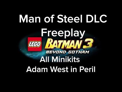 LEGO Batman 3 DLC Man of Steel Freeplay All MiniKit Adam West Locations