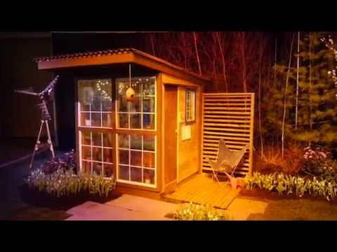 Tiny Art Studio Cabin designed for Tree House Use...(tiny house workshop)