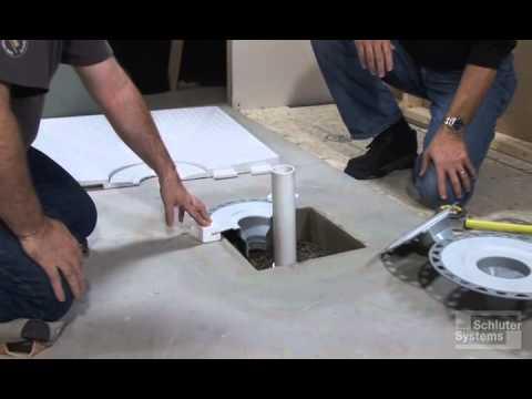 Concrete Box Out Drain Preparation