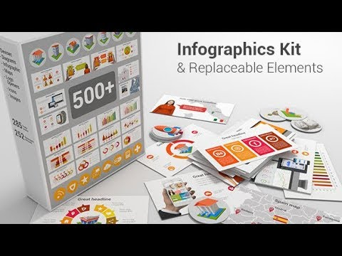 Infographics Kit & Replaceable Elements ( After Effects Project Files)