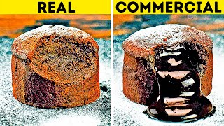 FOOD IN COMMERCIALS VS. IN REAL LIFE || 24 ADS TRICKS
