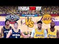NBA 2K19 New Orleans Pelicans Vs Los Angeles Lakers Anthony Davis Full Gameplay