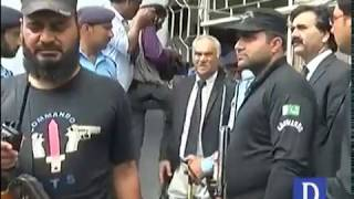 Chairman SECP Zafar Hijazi arrive at court