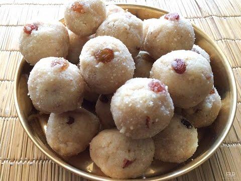 Rave Unde Recipe  , Karnataka recipes, Rava ladoo