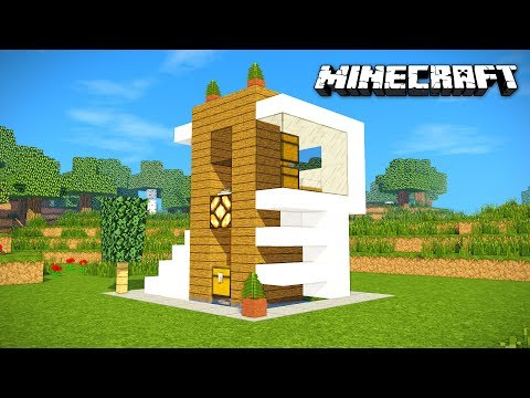 MINECRAFT: HOW TO MAKE A BEAUTIFUL MODERN, EASY AND FAST HOUSE | HOME TUTORIAL