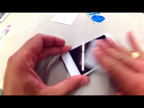 How to install tempered glass screen protector on iPhone 5S from Esource Parts