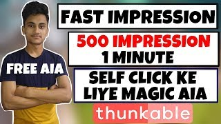 Powerful Auto impression Thunkable aia file and Control your Admob
