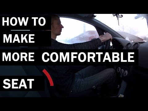 how to make car seats more comfortable