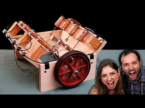 Fizemos o motor V8 eletromagnético!!!