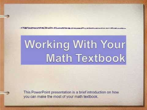 Working With Your Textbook