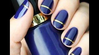 Amazing Nail Polish and Nail Design - How to do nail art very easily - Nail art at home