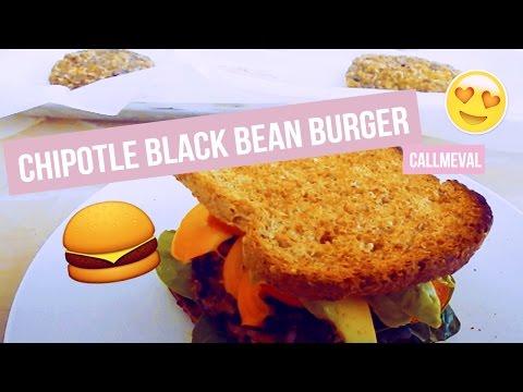 CHIPOTLE BLACK BEAN BURGER RECIPE VEGAN | CALLMEVAL