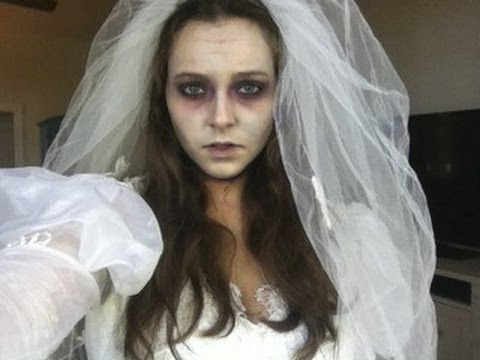 ZOMBIE BRIDE Last Minute Halloween Tutorial!