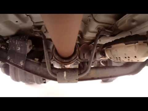 Watch as an xterra drive shaft carrier bearing goes bad!