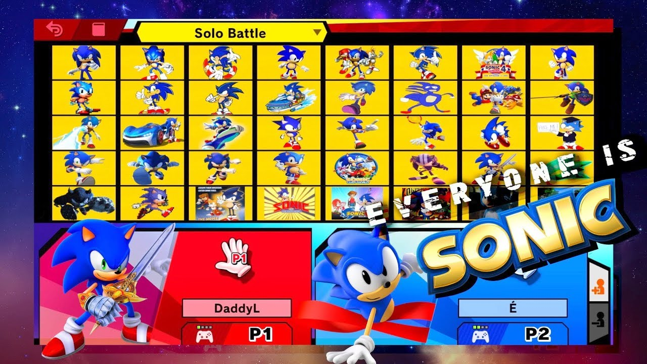 What If Every Character Was A Different Sonic in Smash Ultimate?! Who Would Win?!