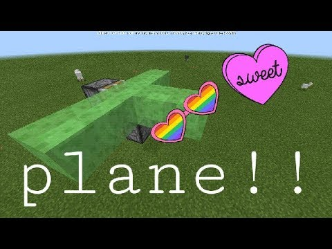 How to make a working flying plane in minecraft (pc/Xbox/PS3/pocket)