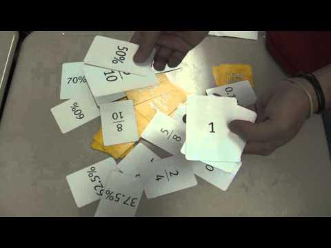 Teacher Tips: Class Game - Onespeed! Fraction, Decimal, % equivalency