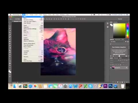 Flattening an Image in Photoshop