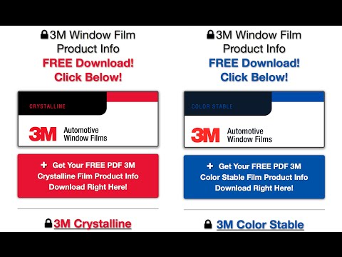 3M Color Stable Tint vs 3M Crystalline Film