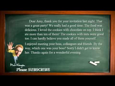 Best English Lessons: Lesson 44: Thank you for your invitation