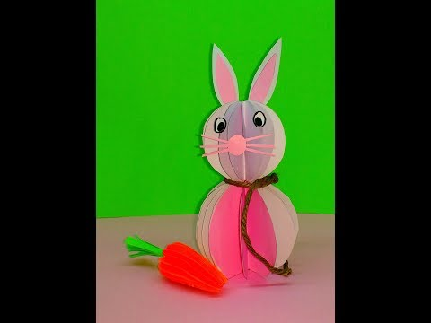 Diy how to make Paper Easter Bunny Decoration