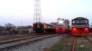 Pakistan Railways 5Up emerges out between 7Up and 6Dn with White Corona