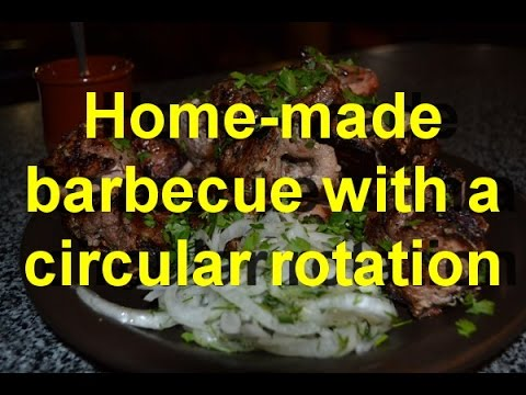 Barbecue with a circular rotation