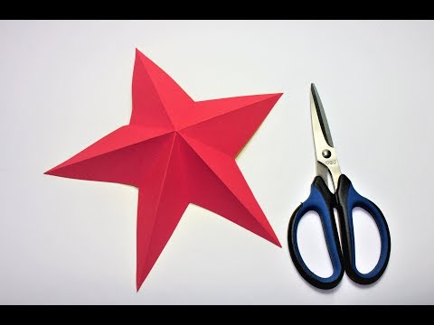 How to Make a 3d Paper Star Decoration | Christmas star |  Origami | diy cool hacks