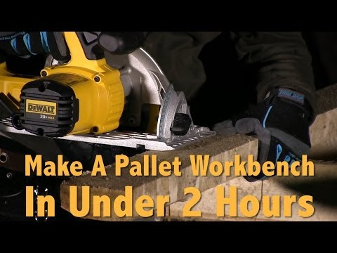 How to Make A DIY Pallet Workbench In Under 2 Hours