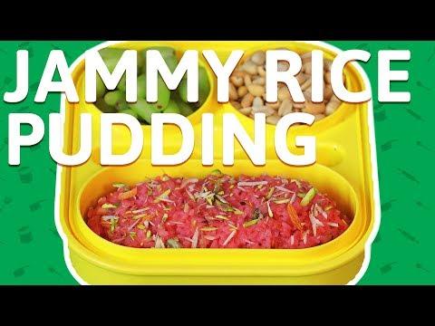 Jammy Rice Pudding Recipe - How To Make Jam Rice Pudding - Pudding Recipe For Kids Tiffin Box