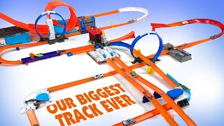 Our BIGGEST Hot Wheels Track Ever!