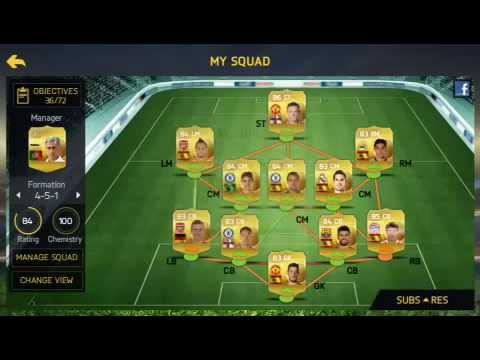 FIFA 15 Ultimate Team iOS Squad Builder